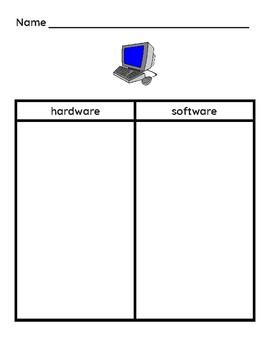Hardware Software Open Sort Comparison T-Chart