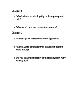 Hardy Boys Trouble at the Arcade Comprehension Questions