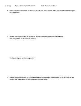 Hardy-Weinberg Practice 2