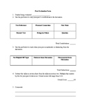 Harkness Peer Evaluation Form