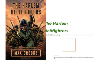 Harlem Hellfighters (WWI) Historical Commentary Book Supplement (Max Brooks)