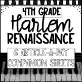 Harlem Renaissance 4th Grade Interactive Companion Sheets