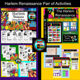Harlem Renaissance Activities Pair, Research and Coloring,