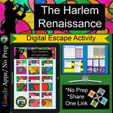 Harlem Renaissance Activity Escape Room Digital Breakout D