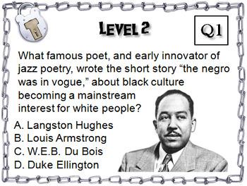 Harlem Renaissance Activity: Escape Room Social Studies