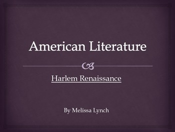 Harlem Renaissance - American Literary Movement Series, part VI