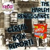 Harlem Renaissance Cereal Box Report#halfoffsunday