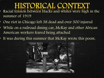 Harlem Renaissance: Claude McKay Poetry Analysis