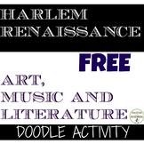 Harlem Renaissance Cultural Doodle Activity - 2 versions