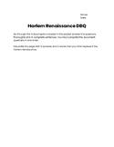 Harlem Renaissance DBQ