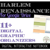 Harlem Renaissance Digital Interactive Notebook Graphic Organizers