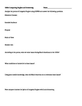 Harlem Renaissance Document analysis APUSH