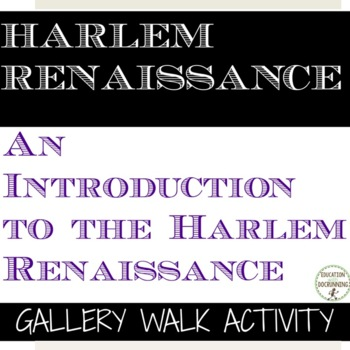 Harlem Renaissance Gallery Walk and Analysis Activity for US History