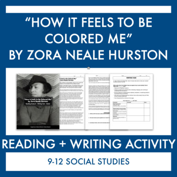 "Harlem Renaissance:""How It Feels to Be Colored Me"" Reading & Reflection"