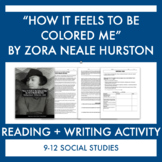 """Harlem Renaissance:""""How It Feels to Be Colored Me"""" Reading"""