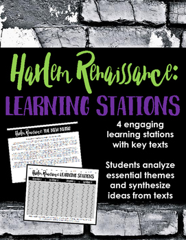 Harlem Renaissance Introduction Learning Stations -- Perfect for Poetry