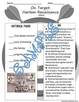 Harlem Renaissance Match-Up SS5H2