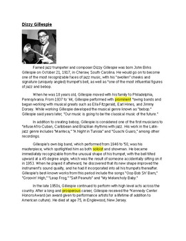 Harlem Renaissance Music & Entertainment Lesson