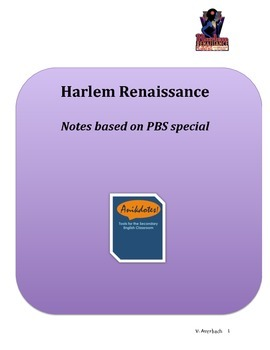 Harlem Renaissance - Notes based on PBS special
