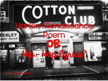 Harlem Renaissance Poem or Hip Hop Song?