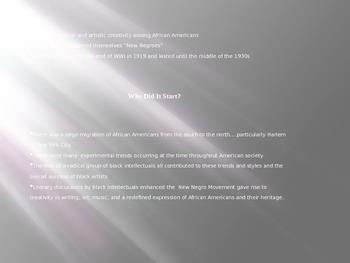 Harlem Renaissance PowerPoint