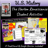 Harlem Renaissance Powerpoint and Group Challenge Activities