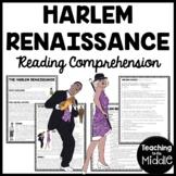 Harlem Renaissance Reading Comprehension Worksheet