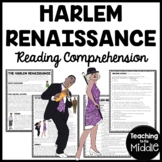 Harlem Renaissance Reading Comprehension Worksheet