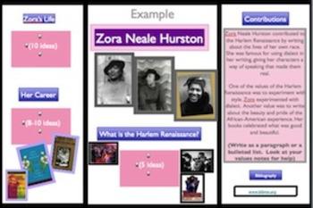 Harlem Renaissance Research Museum Tri-Fold Project (Black History Month)