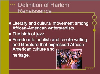 Harlem Renaissance Research Project for Black History Month