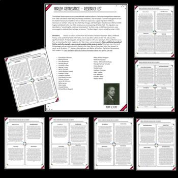 Harlem Renaissance Biographical Speech & Class Quilt