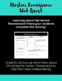 Harlem Renaissance Web Quest