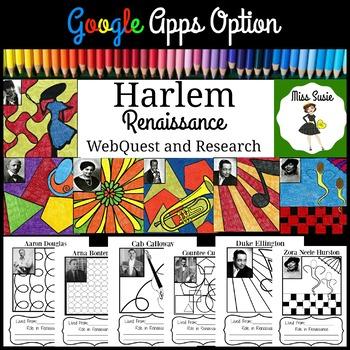 Harlem Renaissance WebQuest and Research Coloring Activity