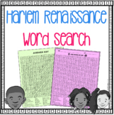 Harlem Renaissance Word Search