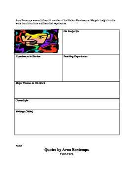 Harlem Renaissance (Word document)