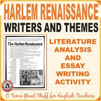 Harlem renaissance essays