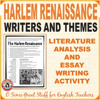 Harlem Renaissance Writers and Themes Independent Essay As