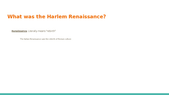 Harlem Renaissance and Poetry