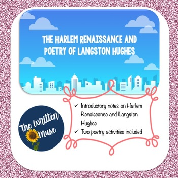 Harlem Renaissance and Poetry Analysis Introduction