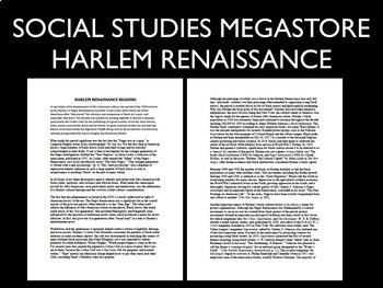 Harlem Renaissance Investigation