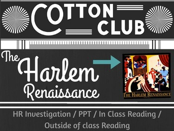 Harlem Renaissance African Americans 1920's Reading Writing Activities