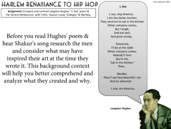 compare and contrast harlem renaissance and hip hop Evolution of hip hop  for essays harlem renaissance poetry essay hiroshima  two restaurants compare and contrast essay issue based essays.