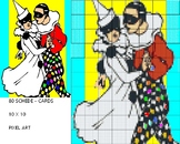 Harlequin DANCE , MAXI POSTER, 80 GRIDS 10 X 10, PIXEL ART