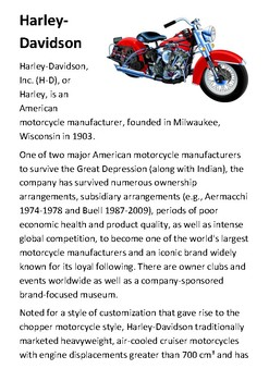 Harley-Davidson Handout