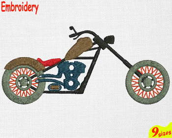 Harley Motorbike motor bike Designs for Embroidery 4x4 5x7 hoop Science 118b