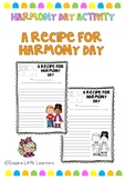 Harmony Day - A Recipe for Harmony Day