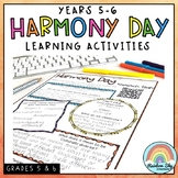 Harmony Day Activities - Years 5 - 6 Cultural diversity, tolerance