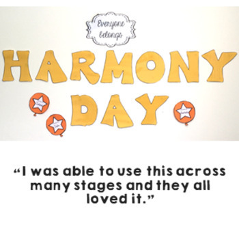 Harmony Day Activities cultural diversity classroom wall display and worksheets
