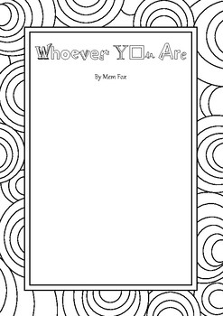 Whoever You Are By Mem Fox Worksheets Teaching Resources Tpt