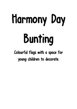 Harmony Day Bunting -for younger children